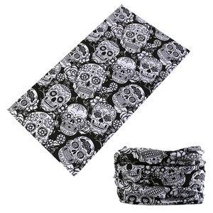 Latest Fashion Skull Magic Tube Seamless Bandanas Headband Variety Turban Hood Veil Head Scarf Multi Function(China)