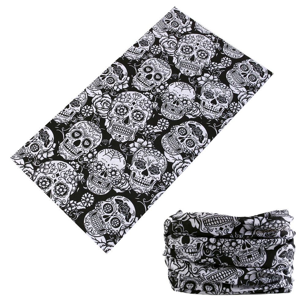 Latest Fashion Skull Magic Tube Seamless Bandanas Headband Variety Turban Hood Veil Head Scarf Multi Function