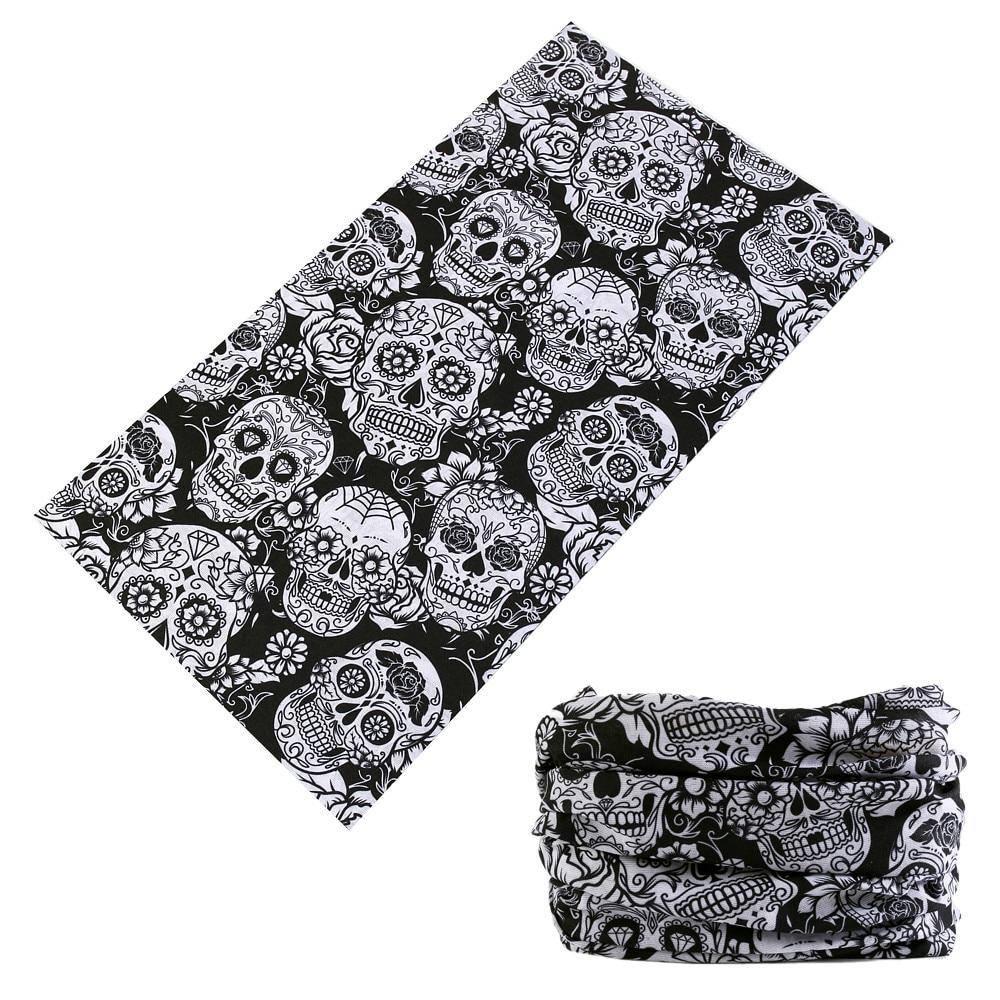 Latest Fashion Skull Magic Tube Seamless Bandanas Headband Variety Turban Hood Veil Head Scarf Multi Function