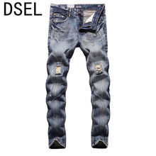 2017 Original Dsel Designer jeans men Famous Brand Ripped jeans Denim Cotton Jeans Men Casual Pants printed jeans!604-2C