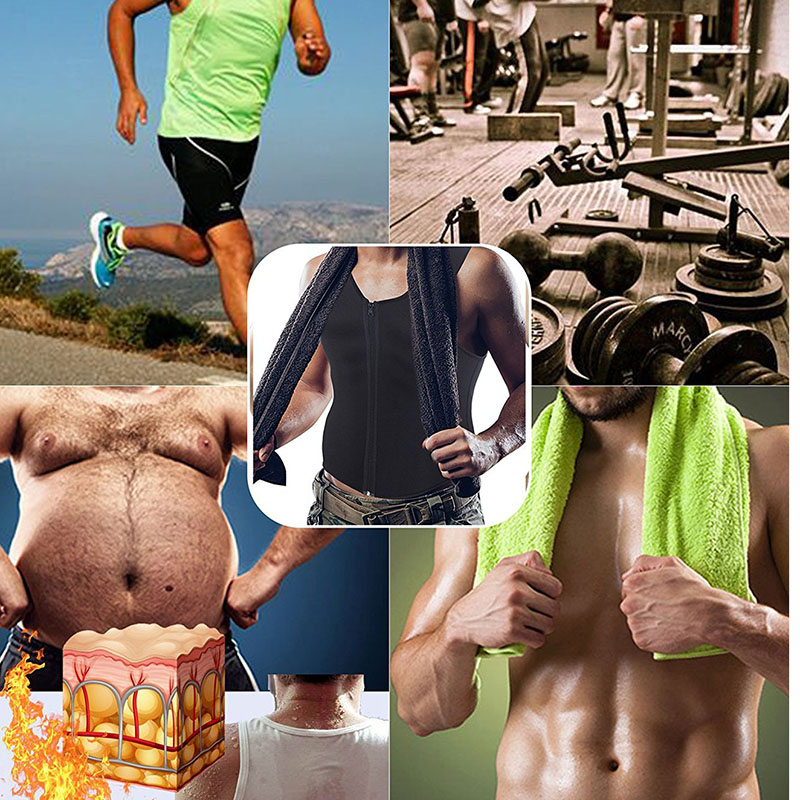 Men Sauna Running Vest Tank Tops Shapewear (7)