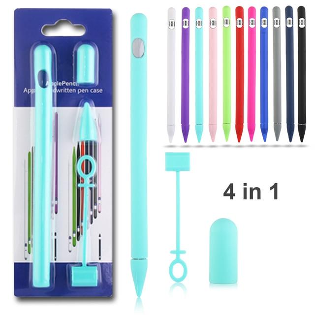 1 pc Suave Silicone Compatível Para Apple Lápis Caso Compatível Para iPad Tablet Touch Pen Stylus Capa Luva Protetora
