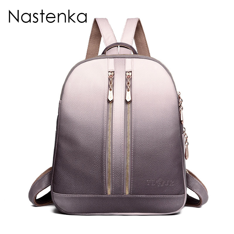 2018 Women Leather Backpacks For Teenage Girls School Backpack Female Travel Shoulder Bagpack Ladies Casual Daypacks Sac a Dos fashion women backpack black soft leather backpacks female school shoulder bags for teenage girls travel back pack sac a dos