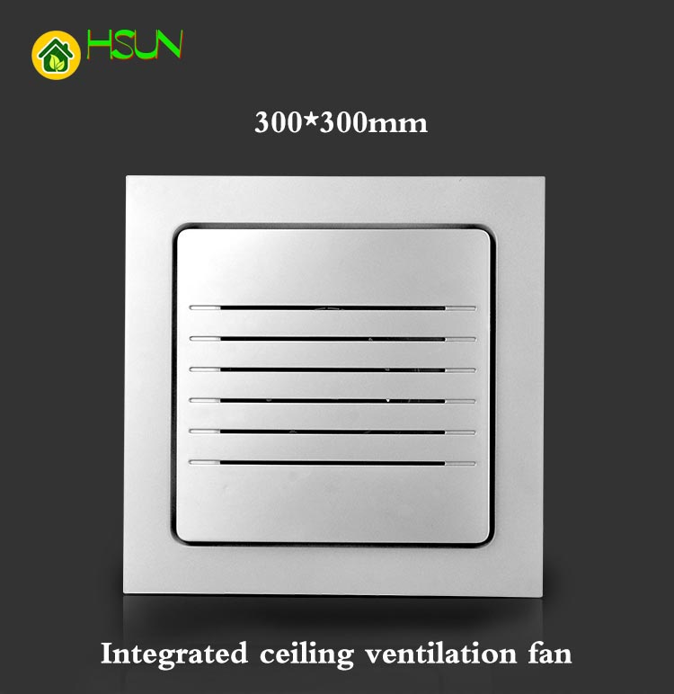 Integrated ceiling ventilation fan Strong bathroom kitchen hotel high power exhaust fan project with embedded 300*300mm integrated ceiling ventilator bathroom wc kitchen silent exhaust fan