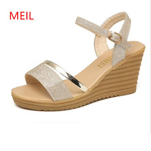 Sandals Women Gladiator Heels Platform Wedges Shoes for Women Shoes Summer 2018 Ladies High Heels Sandals Women Sandalias Mujer все цены