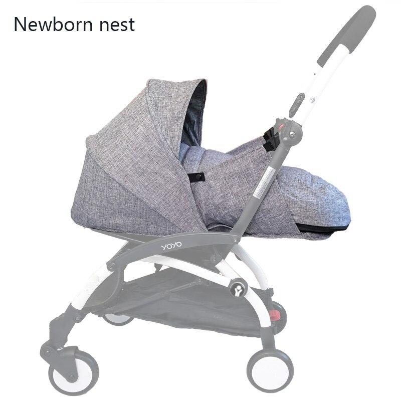 Детские коляски рождение гнездо новорожденных конверт для коляски интимные аксессуары для Babyzen yoyo + Yoya Babytime зимняя корзина