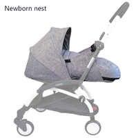 Bébé poussette nid de naissance nouveau-né sac de couchage poussette accessoires pour Babyzen yoyo + Yoya Babytime landaus hiver panier