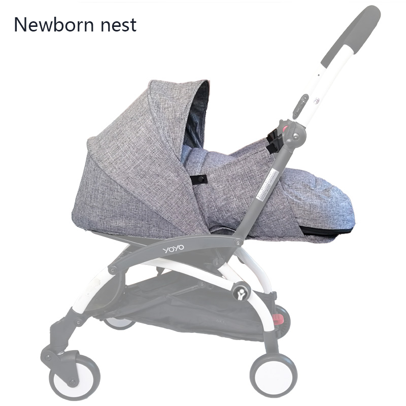Baby Stroller Birth Nest Newborn Sleeping Bag Stroller Accessories For Babyzen yoyo+ Yoya Babytime Carriages Winter Basket