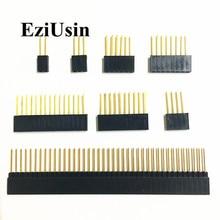 2,54 мм однорядные женские длинные шпильки 11 мм 15 мм отрывная печатная плата контактный разъем 1*2/3/4/6/8/10/15Pin для Arduino