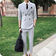 Latest Coat Pant Designs Grey Men Wedding Suits Groom Tuxedo 2Piece Casual Business Man Blazer Costume Homme Terno Masculino latest coat pant designs royal blue velvet jackets men style stage tailed prom blazer tailcoat costume suits winter tuxedo terno