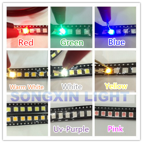 Back To Search Resultselectronic Components & Supplies Active Components Useful 1000pcs Smd/smt 5050 Led Red Yellow Green Blue White Warm White Rgb Plcc-6 Chip-3 Super Bright Lamp Light High