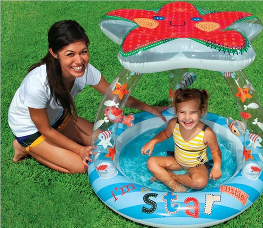 Starfish Cartoon Inflatable Toy Tub Baby Splashing Kids