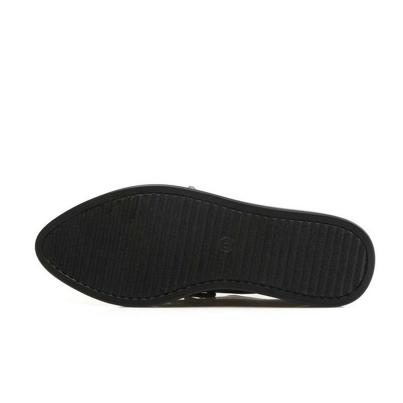 Gris gray Femelle Up Semelles Dentelle Black Épaisses Pointu Chaussures Taille Automne Noir Bout Gland Femmes 2018 Plates De À Grande ZuOkXPi