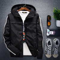 S To 4XL Anti Wind Men Hoodie Sweatshirt Hip Hop Fashion Tracksuit Jacket Coat