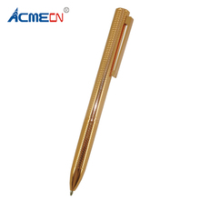 ACMECN Rose Gold Ballpoint Pen High-Tech Carves Wave Pattern Design Twist Retractable Ball for Men or Lady Gifts Unisex Pens