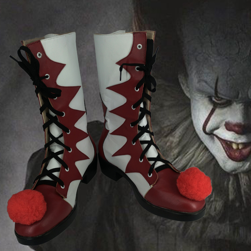 Halloween Custom-Made Stephen King's It Cosplay Costumes Clown Pennywise Mens Women Boots Shoes Prop