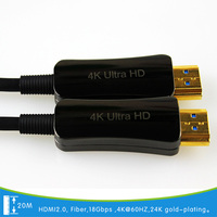 20meter Optical Fiber HDMI cable gold plated 4K 8K 1080P 2160P for HDTV HDMI 2.0 Plug and Play video cable Factory direct sale