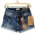 Brand Quality Plus Size S-XXL Saias Femininas High Waist Denim Shorts Women Feminino Casual Elegant Vintage Shorts Jeans Women