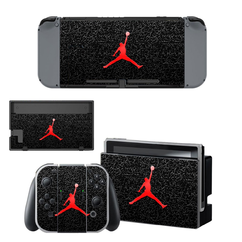 Air Man Jordan NS Game Console Skin and Controller Vinyl Decal Sticker for Nintend Switch Skins Cover Set