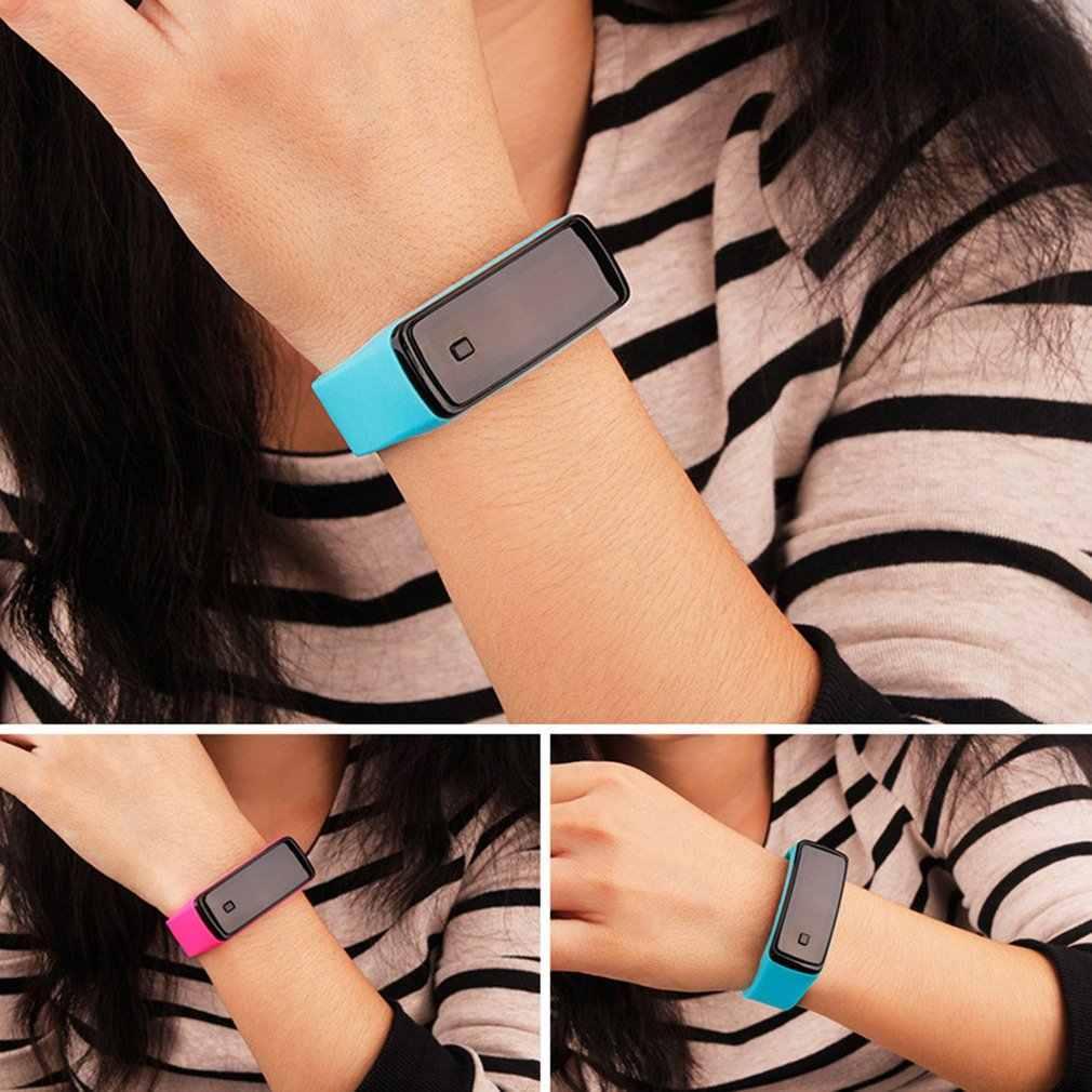אופנה סיליקון ג 'ל ילדי ילדים LED דיגיטלי שעון יד קל משקל ספורט צמיד שעון יוניסקס גברים נשים צמיד