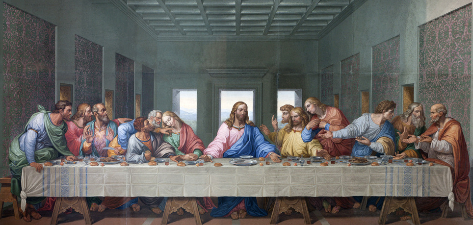 judas leaves last supper into the night - HD