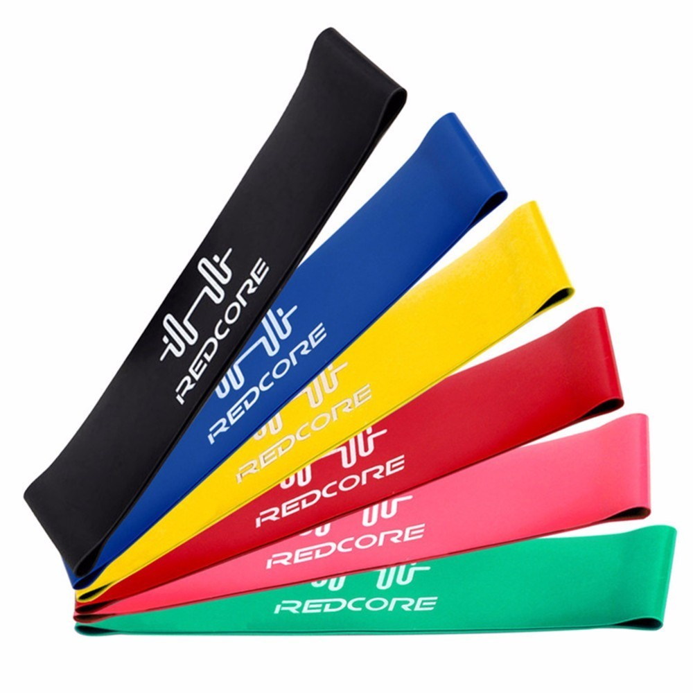 Resistance Band Set 6 Levels Available Latex Gym Strength Training Rubber Loops Bands Fitness CrossFit Equipment