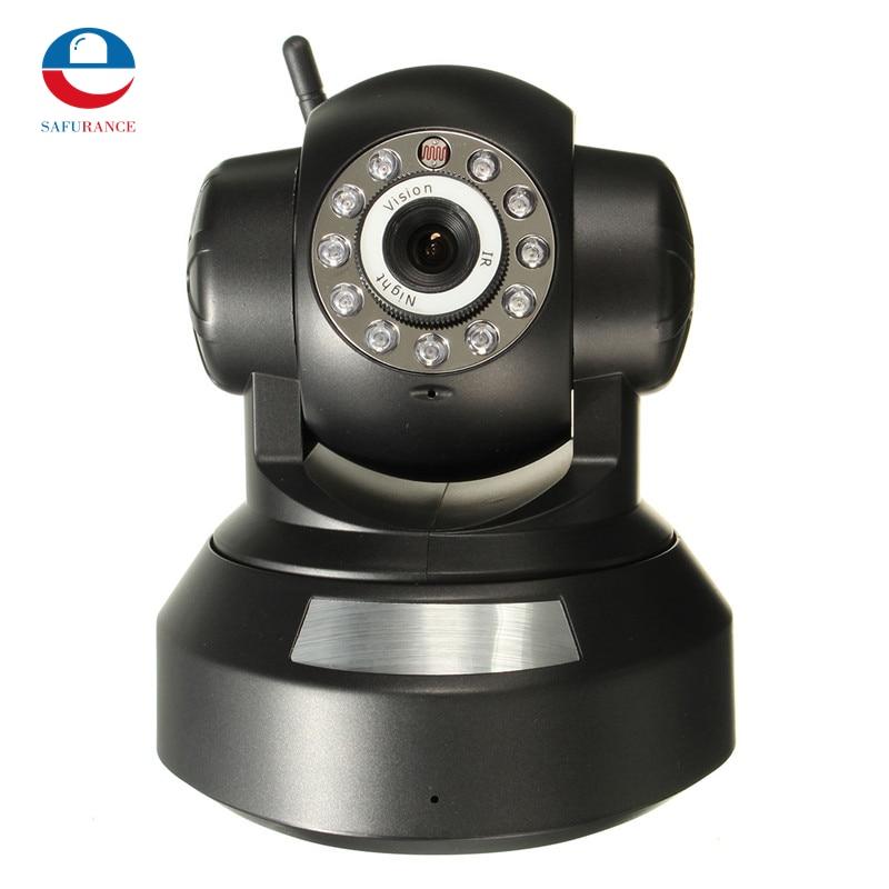ФОТО Hot Sale High Quality P2P Network IP Camera Telecamera Vediocamera Wirless WI-FI Mirco T/F Card Slot Black New Arrival