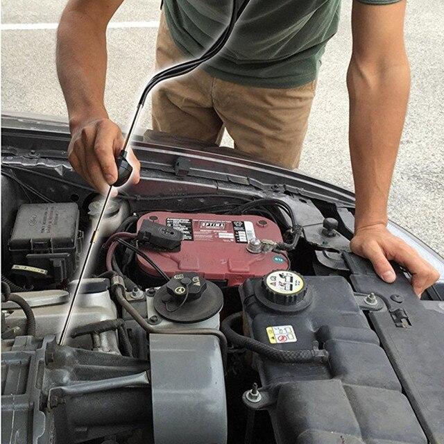 Franchise mécanique cylindre stéthoscope voiture bloc moteur Diagnostic automobile outils auditifs Anti-choc Durable chromé-acier 2