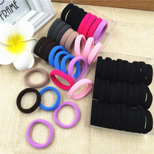 10Pcs Hairdressing Tools Black Rubber Band Hair Ties Rings Ropes Gum Springs Ponytail Holders Accessories Elastic