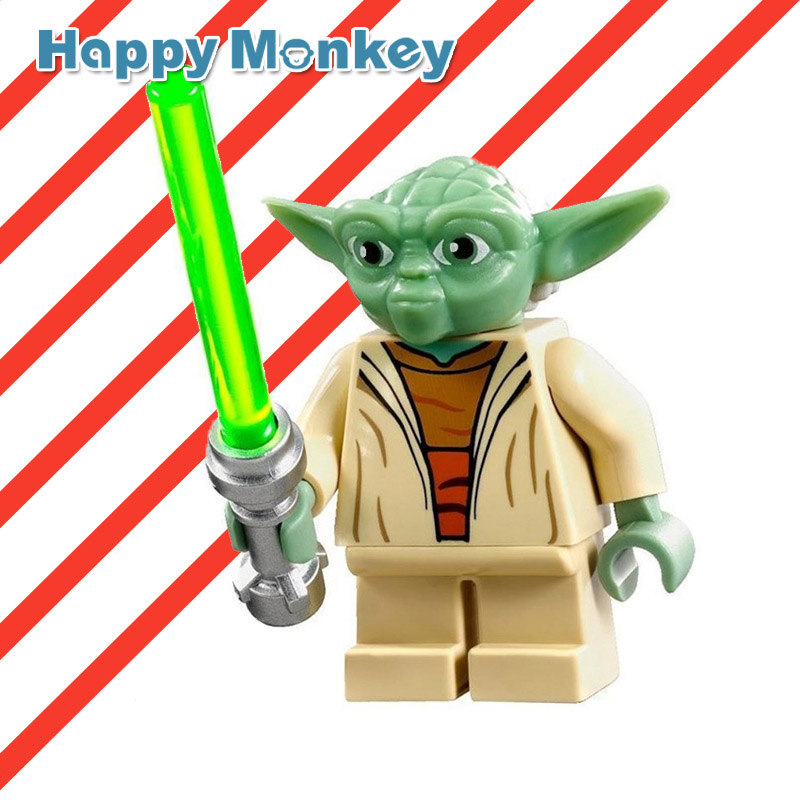 Hot Yoda Legoing Mavel Star Wars Super Heroes Building Blocks Anakin Han Solo Kids DIY Educational Toys Brick Figures zk35