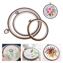 3 PCS Wooden Plastic Frame Embroidery Hoop Ring Circle Round Loop For Cross Stitch Machine Hand DIY Needlecraft Sewing Tools