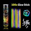 100pcs Multi Mix Color Glow Sticks Safe Light Stick Fluorescent for Event Festive Party Supplies Concert Decor Dark Party Lights