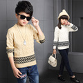 Boys Sweaters Preppy Style Striped Knitting Sweaters For Boys Kids Clothes Autumn Winter Children Girls Tops 4 6 8 10 12 14Years