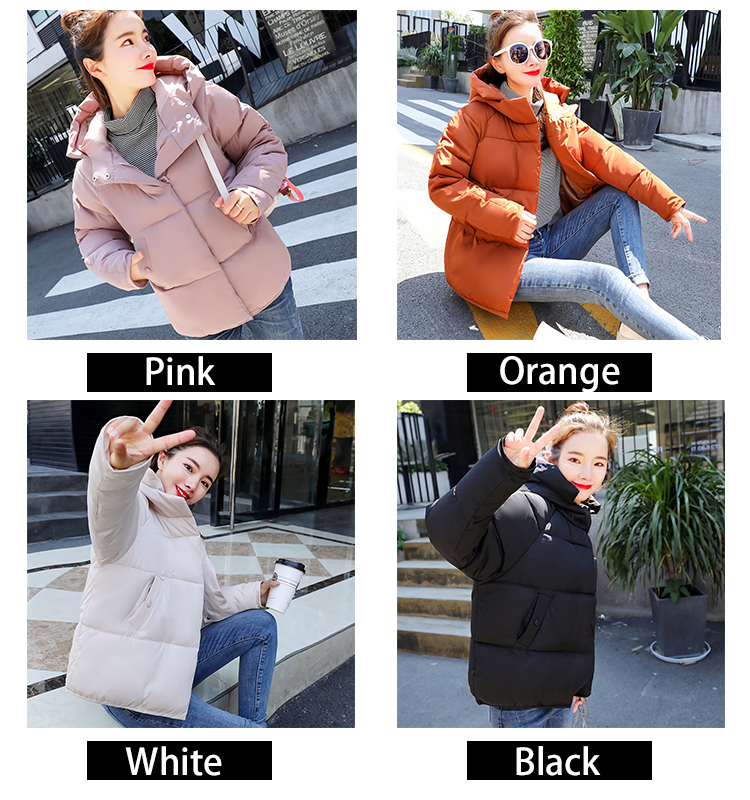 ⑦Kawaii Parka Women Bubble Coat Winter Puffer Jacket Short ...
