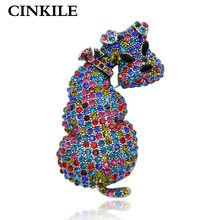 CINKILE Cute Rhinestone Dog Brooches for Women Vintage Large Brooch Pin Fashion Jewelry Animal Accessories High Quality Gift(China)