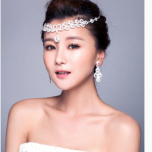 Невесты лоб между бровями падение корейских ювелирных изделий цепи свадебные аксессуары XF666B