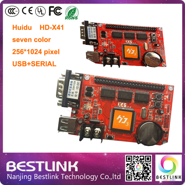 HD-X41 HD-S64 LED controller card USB+SERIAL port 256*1024 pixel led control card p10 led module for outdoor advertising board