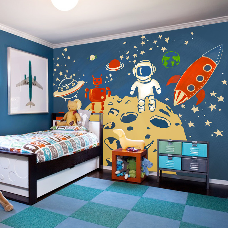 Buy wholesale american 3d cartoon mural for Child mural wallpaper