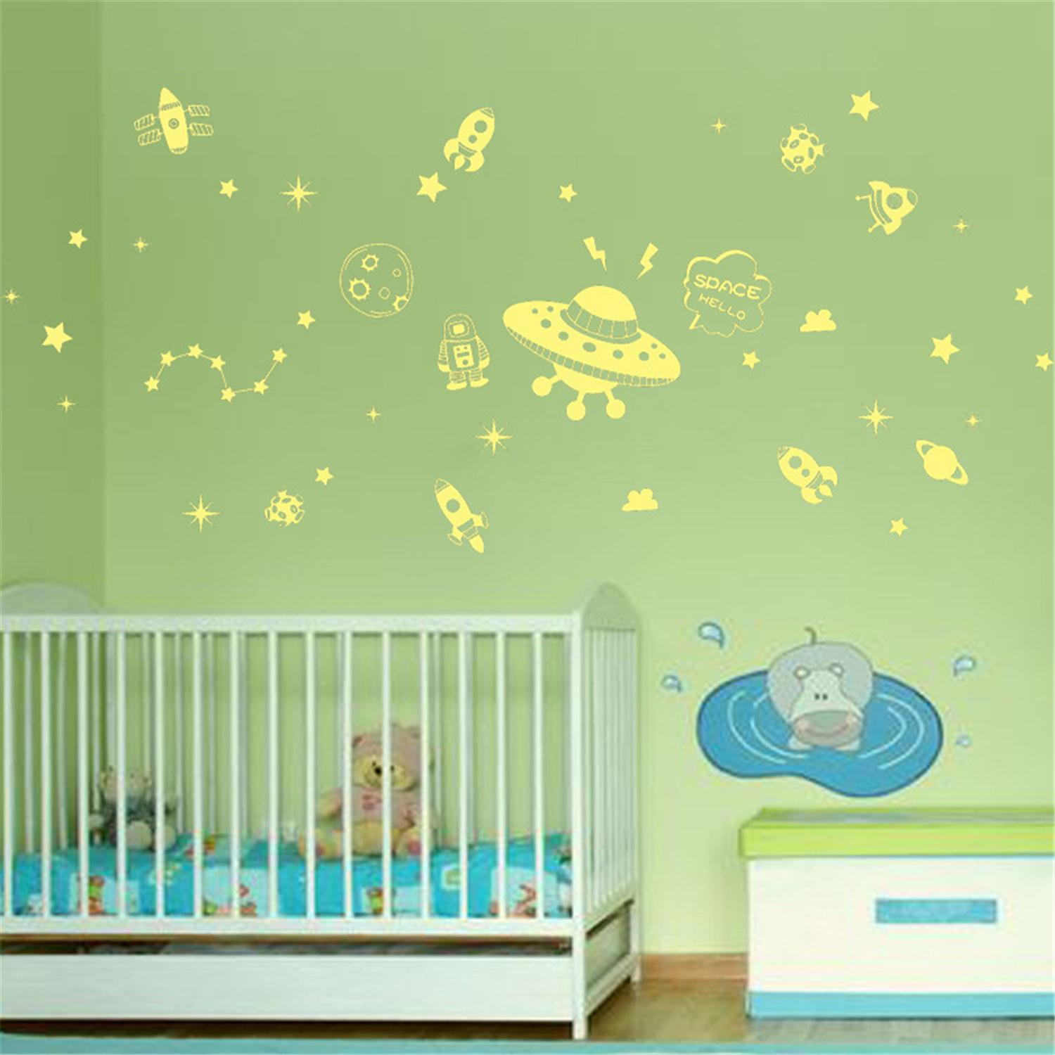 Online get cheap galaxy wall stickers for Cheap wall mural decals