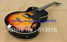 Новинка 1946-1949 Archtop гитара, Sunburst ES125 электрогитара с HH пикап + хромированное оборудование! Бесплатная доставка!