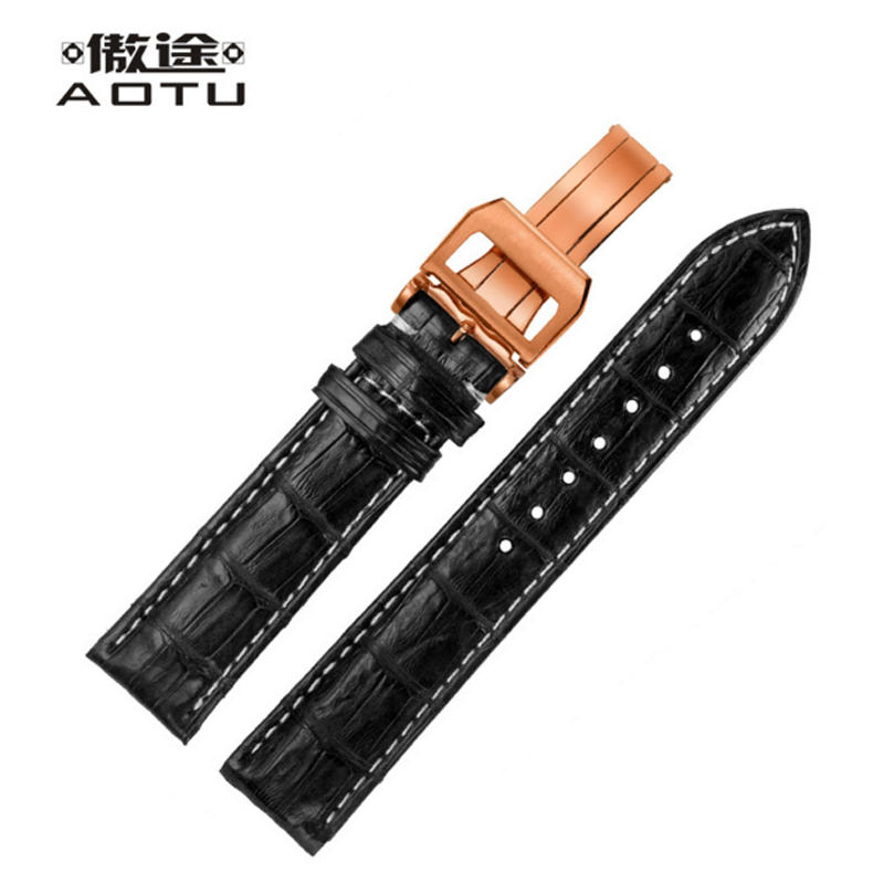 Genuine Leather Watchband For IWC PILOT'S PORTUGIESER Men Watches Band  Crocodile Leather Man Watch Strap Top Quality Bracelet eache silicone watch band strap replacement watch band can fit for swatch 17mm 19mm men women