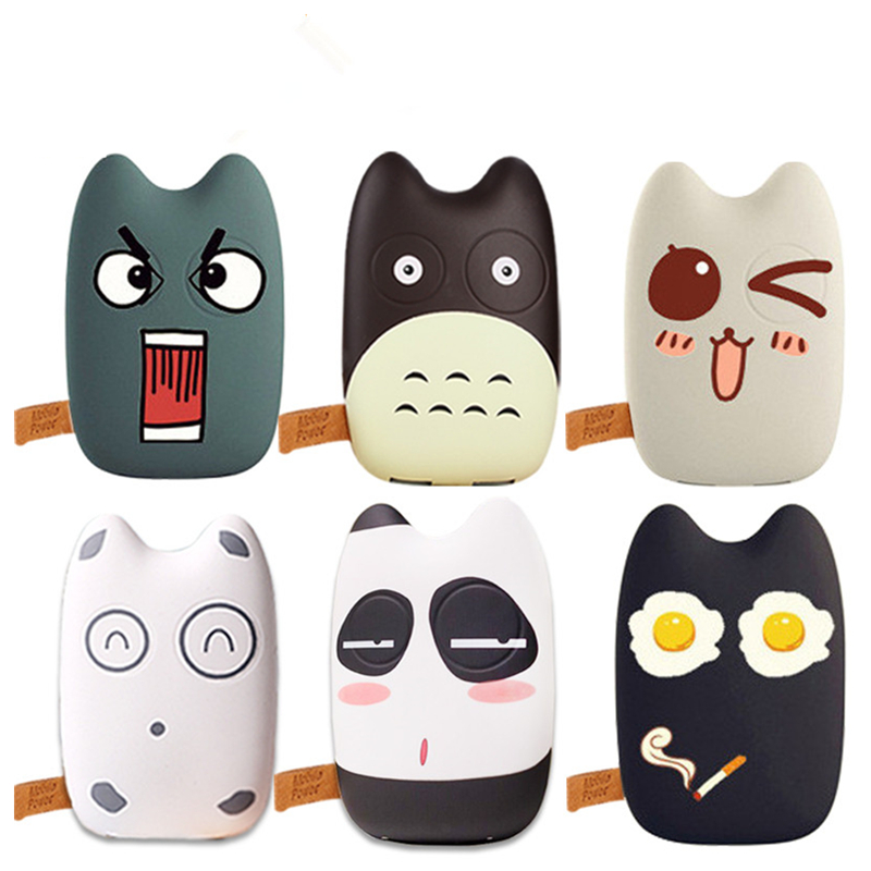 Mobile Power Bank Cartoon portable charger external font b Battery b font lovely mobile phone charger