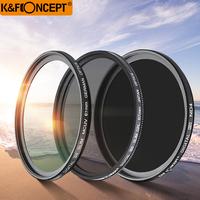 K&F CONCEPT 52mm 55mm 58mm 67mm 77mm 82mm UV CPL ND4 lens filters kit Glass Filter for Canon Nikon Sony and more