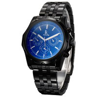 תאריך אוטומטי שעונים גברים תת מחייג עסקי יוקרה IK צביעת נירוסטה שעונים מכאניים אוטומטיים גברים ספורט צפה 3311