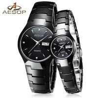 AESOP Ceramic Lover Couple Watch Women Men Sapphire Crystal Quartz Wristwatch Ladies Clock Montre Femme Relogio