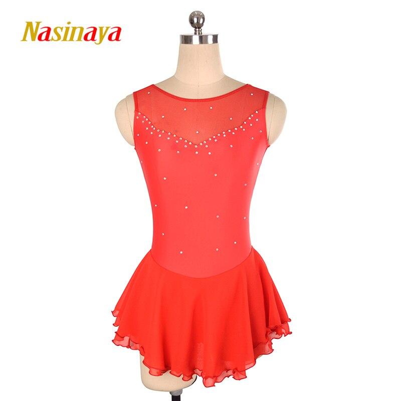 Nasinaya vestido de Patinaje Artístico de competición personalizada falda de Patinaje sobre hielo para niñas mujeres niños Patinaje gimnasia rendimiento 147