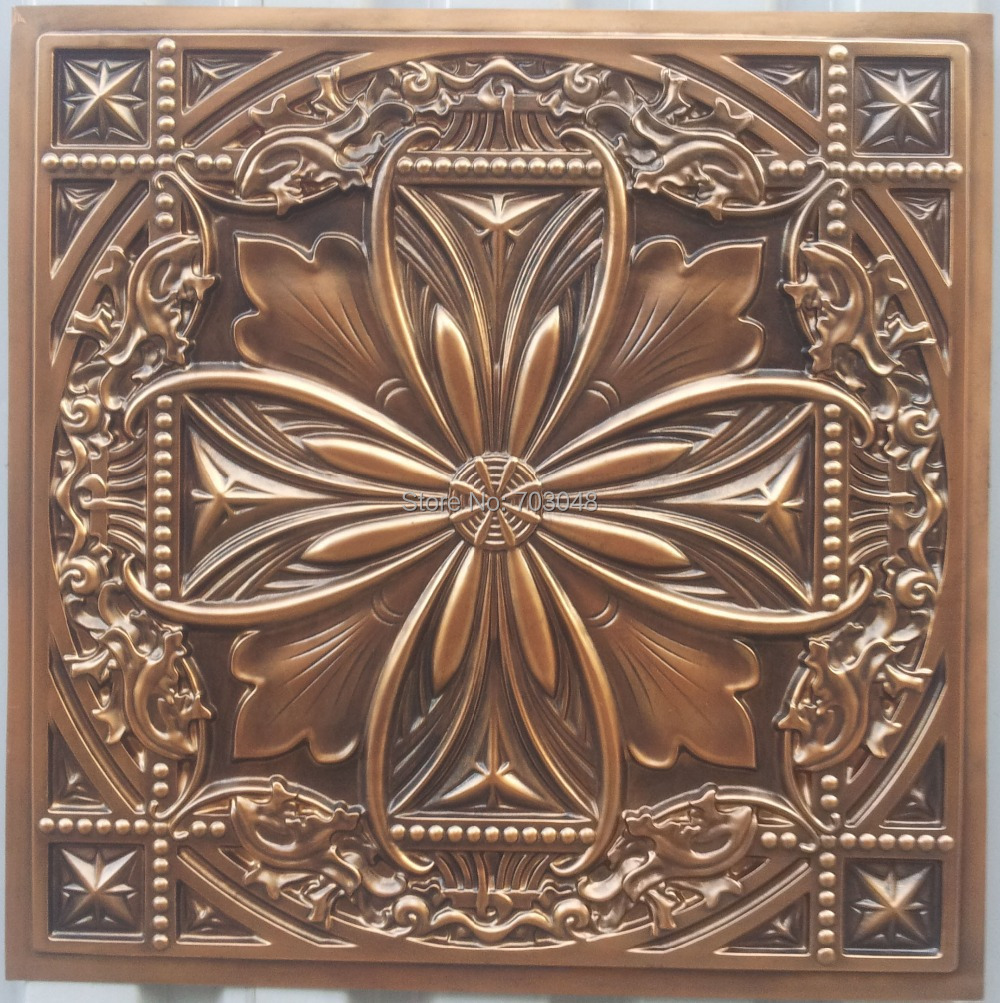 Pl10 Old Faux Painting 3d Embossed Ceiling Panels Antique