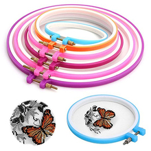 5pcs DIY Needle Sewing Hoop Set diam 12 16 20 24 27cm Plastic Circle Frame Ring