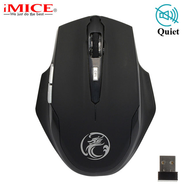 9ac246c0fe8 Silent Wireless Mouse 1600DPI Adjustable USB 3.0 Receiver 2.4GHz Ergonomic  Optical Computer Mouse Gamer Mice for Laptop PC