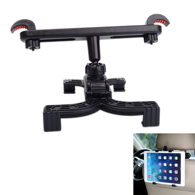 360 Degree Car Mount Back Seat Headrest Holder Stand Bracket for 7-11inch Tablet iPad Air/Mini Auto Tablet PC Bracket Kit EM88 h29 car windshield holder swivel mount w c61 4 5 7 back clip for ipad mini tablet pc black